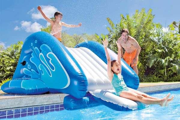 Toboggan rampe piscine
