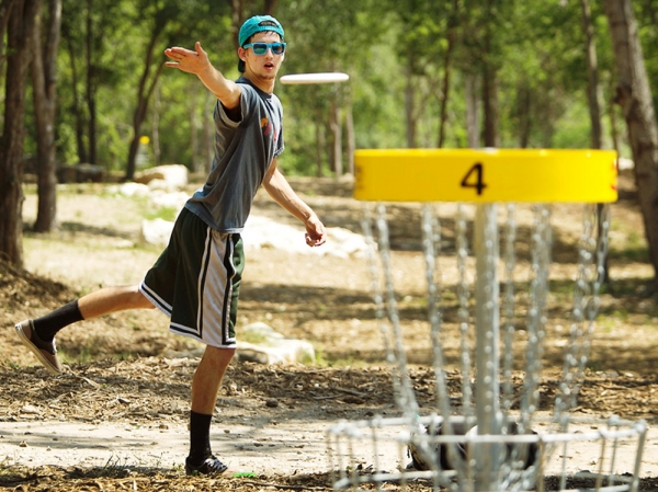 Disc-golf parcours frisbee